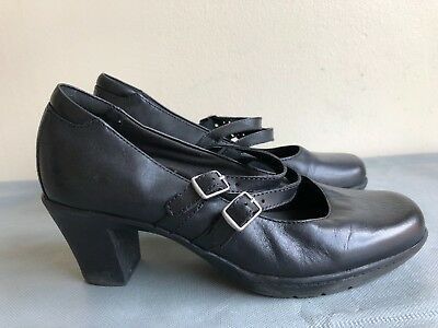 Clarks Bendables Double Strap Mary Jane's  Heels Women's Shoes 80431  Sz 7.5 M - Double Strap Mary Jane Heels