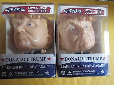 2 Donald Trump SqueezeEz Big Head doll  Collectible Stress Ball toy figure
