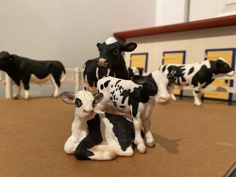 Schleich Holstein Calves