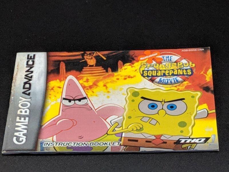 98ca594500 The Spongebob Squarepants Movie Instruction Manual Nintendo Game Boy Advance  EX .