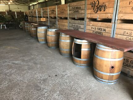 Wine barrel hire $25.00 each 4 for $80 special