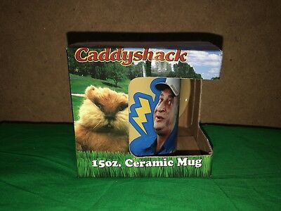 Rodney Dangerfield In Caddyshack (Caddyshack 15 oz Ceramic Mug Rodney Dangerfield New In Box Rare 1980s)