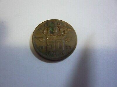 50 centimes belgique pièce - belgie munt 1969