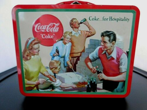 "Coca-Cola Embossed ""Coke...for Hospitality"" Tin Lunch Box"