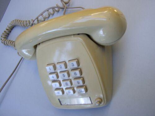 Vintage Retro STC Plastic Cream Rotary Push Button  Telecom Telephone 80s Decor