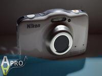 Funzionante Nikon Coolpix S32 13.2mp Impermeabile Fotocamera Digitale Bianco - Bianco- nikon - ebay.it