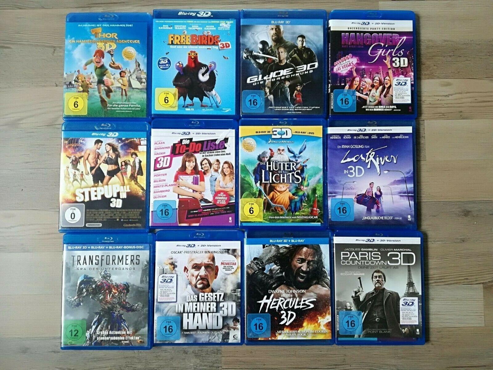 3D Blu-ray - Filme, verschiedene zur Auswahl