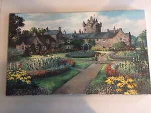 French Castle Scene with Garden