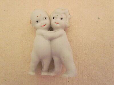 1925/40 Bisque Kewpie Huggers Bride and Groom Cake Toppers