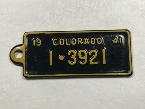 1941 Colorado BFG BF Goodrich Tires license plate tag key fob Rare!