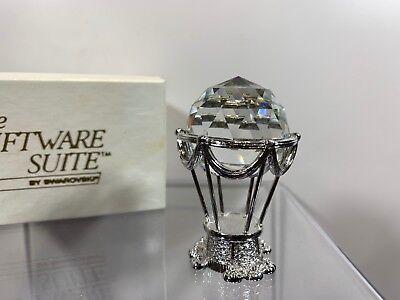 (Swarovski Trimlite Giftware Rhodium Hot Air Balloon Small Clear Crystal MIB)