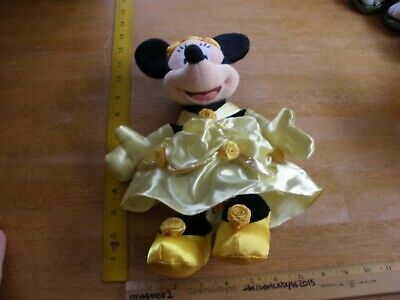 Minnie Mouse Yellow southern dress Theme Park Edition plush 2000s NWT