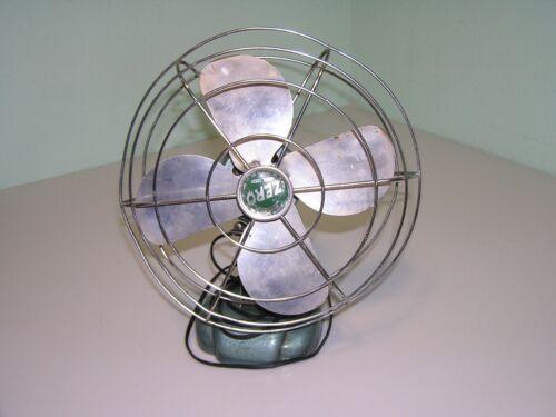 "Vintage Mid Century Modern ZERO 10"" Oscillating Fan McGraw Model 1265R"