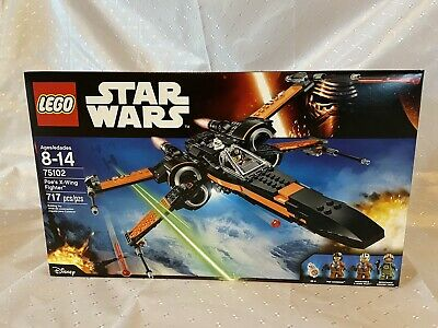 New! Lego Star Wars 75102 Poe's X-Wing Fighter w/ Poe & BB-8 Sealed