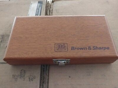 Brown And Sharpe 599-30-9996 Wood Case