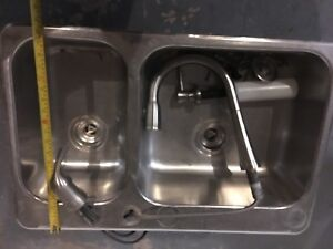 Kitchen sink with faucet