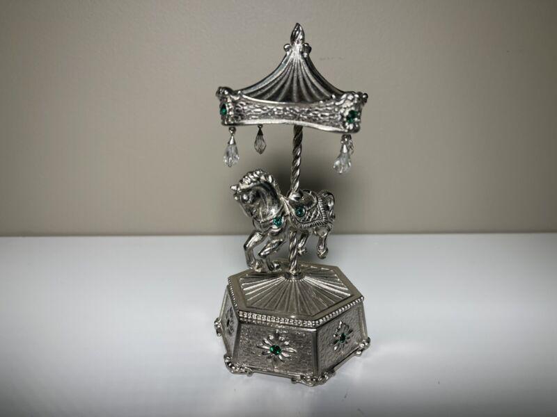 Carousel Horse Jewelry Box - Metal