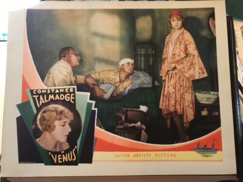 """Venus 1929 United Artists 11x14"""" silent lobby card Norma Talmadge Andre Roanne"""