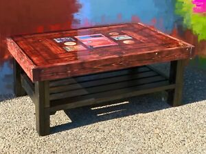 """Custom made """"RED TRUCK BEER COFFEE TABLE """""""