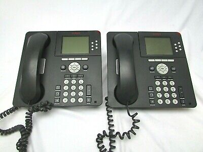 Lot Of 2 Avaya Anatel 9630 Black Ip Office Telephone W Dpsn-20hb-b Power Supply