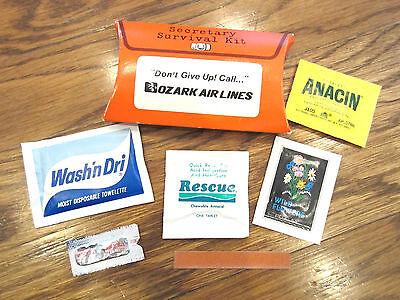 Ozark Air Lines Airplane Secretary Survival Kit Unused Mint