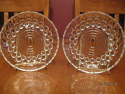 "Pair Of Vintage Clear Glass 5 1/2"" Bowl ~ Candy Dish ~Reims France Bubble Circle"