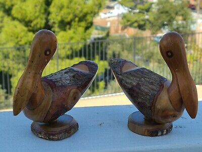 Burl Wood Bird Sculpture***  Vintage Folk Art** Natural Wood Burl Standing Bird Sculpture***  Wonderful Patina