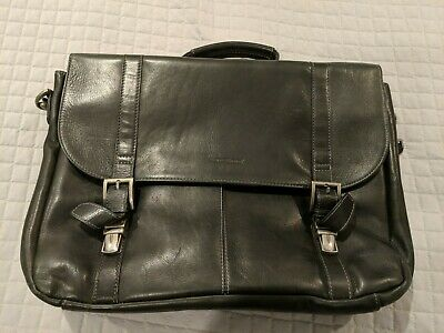SAMSONITE BLACK LEATHER PORTFOLIO - MODEL #923670