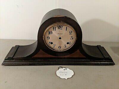 VINTAGE ANTIQUE WOOD MANTLE CLOCK WATERBURY