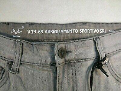 V 1969 Abbigliamento Sportivo SRL Gray Slim Straight Jeans Men's Size 34/30