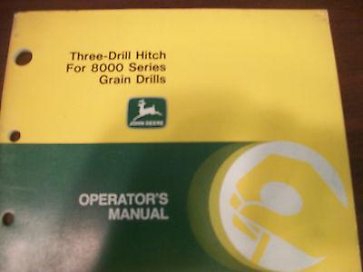 John Deere Tractor Operators Manual 3-drill Hitch For 8000 Series Grain Drills
