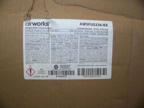 Airworks Splash Free Urinal Scree Lavender Meadow Purple 10 ea. AWSFUS236-BX New