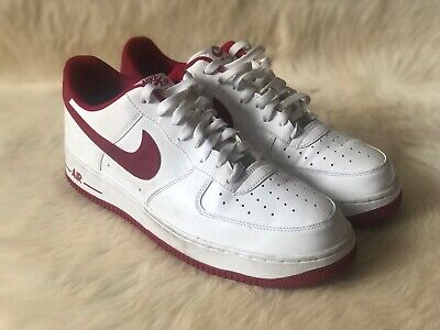 the best attitude b7007 050ea Nike Air Force 1 Low 488298-156 Mens Size 12 White Gym Red