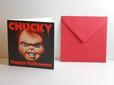 Chucky die Mörderpuppe, Happy Halloween Grußkarte
