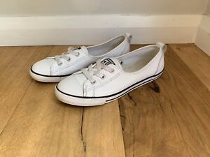 b5627809f3f Chuck Taylor All Star Dainty Ballet Leather Slip White.