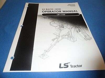 Ls Tractor Operators Manual Parts Book Back Hoe Backhoe Lb1103 J23 J27 Tractors