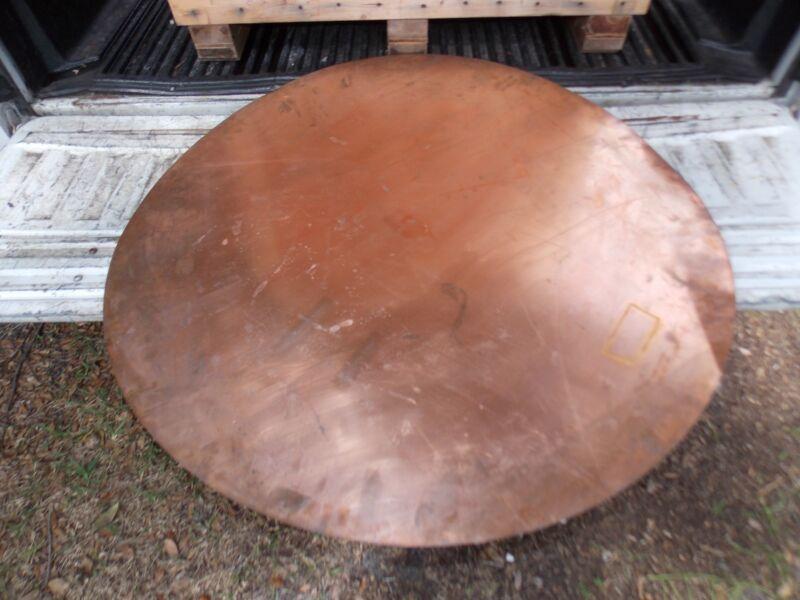 "Copper Sheet Plate 5 lbs 40"" Disc Orlando"