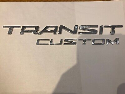 Custom /& Connect Van TD Genuine New FORD TRANSIT REAR DOOR BADGE Emblem 2013