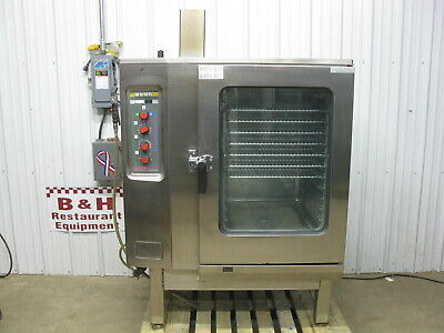 Lang Natural Gas Steamer Convection Combi Oven W Stainless Steel Stand Lcg-241m