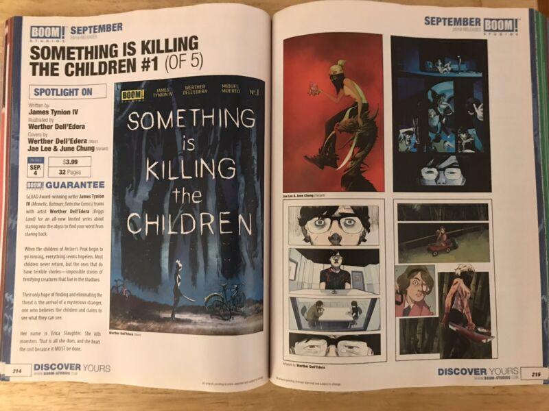 Previews 370 Catalog July 2019 1st Appearance SOMETHING IS KILLING THE CHILDREN