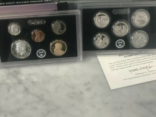 2017-S 90% SILVER PROOF SET 10 COINS WITH BOX & CERTIFICATE - ACTUAL SET SHOWN