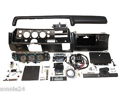 1971 CHEVELLE SS DASH KIT TACH GAUGES RADIO WITH AIR COND COMPLETE EL CAMINO