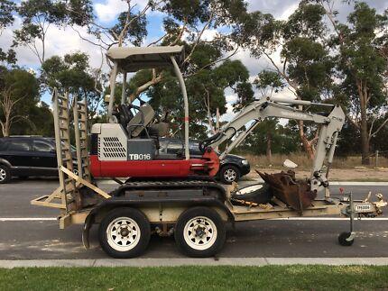 Excavator dry hire $190