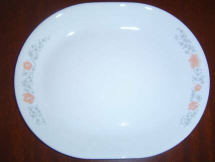 APRICOT GROVE CORELLE BY CORNING WARE PLATTER 31 X 25 CM & Corelle by Corning USA - tan dinner set pieces   Dinnerware ...