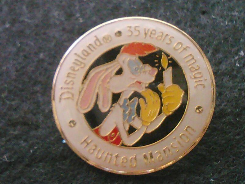 DISNEYLAND 35 YEARS OF MAGIC HAUNTED MANSION 1990 ROGER RABBIT DISNEY PIN