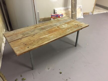 Rustic solid table, beach house, garden, men cave, coffee table