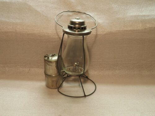 Antique High Speed M-E-G. Company Nickel Plated Miners Carbide Lamp