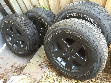 Goodyear Wrangler Tyres and Jeep JK rims  Box Hill South Whitehorse Area Preview