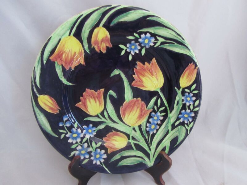 Maling Pottery English #6066 Embossed Tulip Plate.