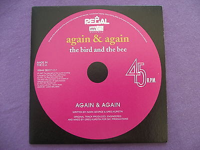 The Bird and The Bee - Again & Again. Promo CD Single